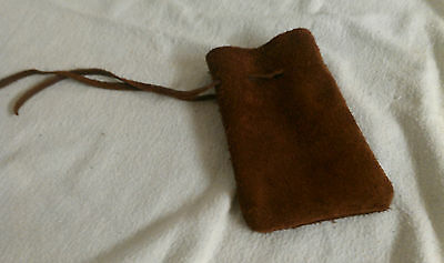Rune Pouch (Runecrafting) Brown Leather DRAWSTRING MONEY POUCH/ BAG