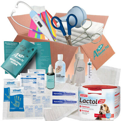 ESSENTIAL Puppy Whelping Kit Beaphar Lactol Milk Bottle Iodine liners & More 543