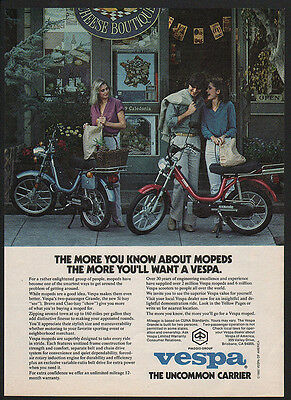 1980 VESPA Moped - Scooter - Motorcycle -  Pretty Women -  VINTAGE AD