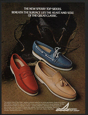 1982 SPERRY TOP-SIDER Leather Boat Shoes - Retro 80's VINTAGE ADVERTISEMENT