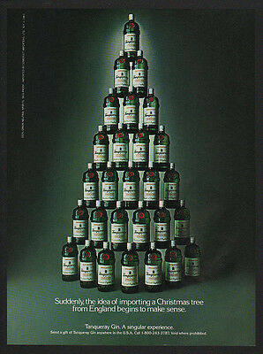 1984 TANQUERAY Gin - CHRISTMAS TREE - VINTAGE AD