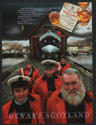 1991 DEWAR's WHITE LABEL Scotch Whisky - Scottish Sailors  - Scotland VINTAGE AD