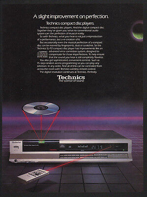1985 TECHNICS SL-P2 Compact Disc Player - CD -  VINTAGE AD