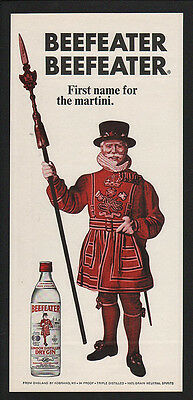 1968 BEEFEATER London Distilled Dry Gin VINTAGE AD