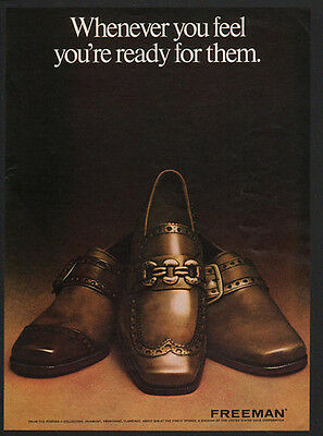 1969 FREEMAN Men's Shoes - Whenever You Feel You're Ready For Them -  VINTAGE AD
