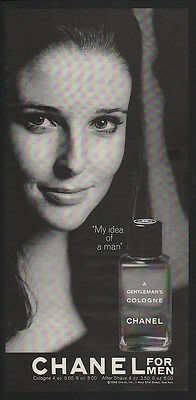 1968 CHANEL Men's Cologne - A GENTLEMAN'S COLOGNE MY IDEA OF A MAN -  VINTAGE AD