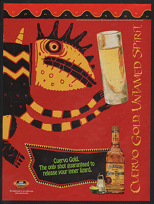 1996 JOSE CUERVO GOLD Tequila - RELEASE YOUR INNER LIZARD -  VINTAGE AD