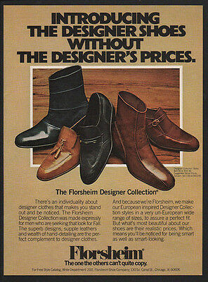 1977 FLORSHEIM Men's Shoes - The Florsheim Designer Collection -  VINTAGE AD