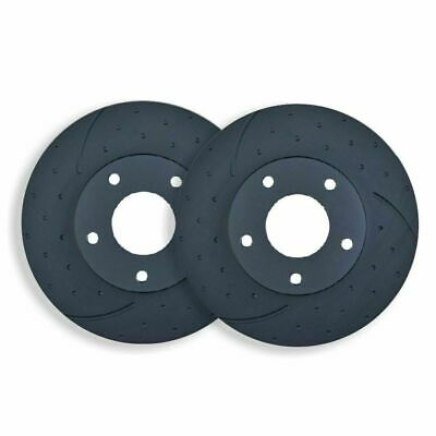 DIMPLED SLOTTED FRONT DISC BRAKE ROTORS for Nissan Patrol GU Y61 4.8L 2001 on