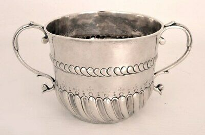Antique William & Mary Silver Porringer 1694