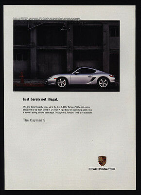 2006 Grey PORSCHE CAYMAN S Car - Just Barely Not Legal - VINTAGE AD