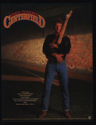 1985 JOHN FOGERTY CENTERFIELD Album Release VINTAGE ADVERTISEMENT CREEDENCE CCR