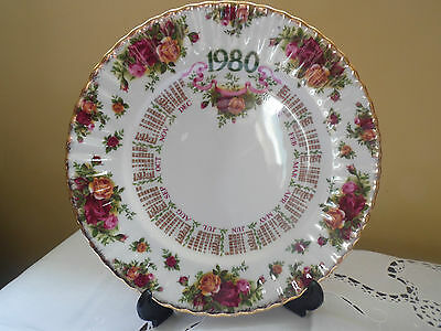 """Royal Albert Old Country Roses, 1980 Calender Plate 10"""" First edition"""