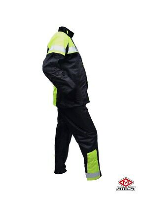 MITECH Motorcycle Rain Suit Wet Weather Pants Jacket 2 PC Suits 100% Waterproof