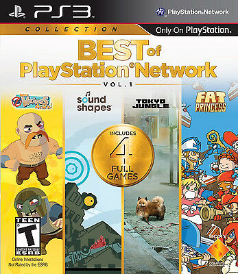 Best of PlayStation Network Volume 1 (PlayStation 3)  Includes 4 Full Games NEW!