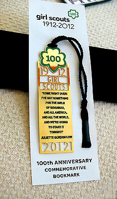 BOOKMARK Girl Scout 1912-2012 NEW in Pkg. Hanging Ornament Special GIFT