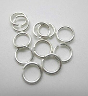 1 lot 10 pcs 925 Sterling Silver open Jump ring Beading Jewellery Making