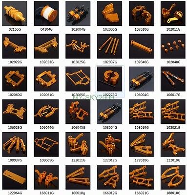 Gold Aluminum Parts for 1/10 HSP Racing on-road off-road Truck Buggy RC 4WD Car