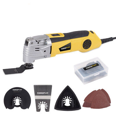 Powerplus 300w Oscillating Multi Combo Tool Wood Metal Blades Plus Accessories