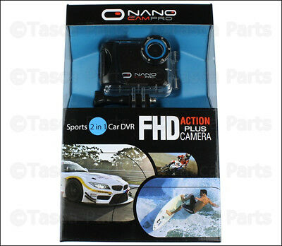 New 1080P 2-In-1 Sport & Car Dvr Nanocampro Fhd Action Waterproof Camera