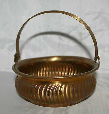 Rosenthal Netter Brass Basket With Hanlde - Made in India