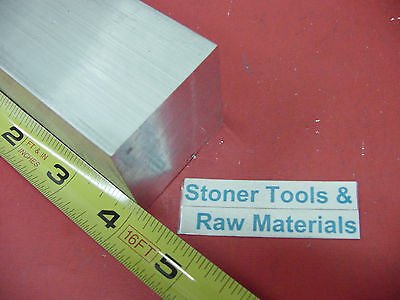 "18 Pieces 2"" X 2"" ALUMINUM SQUARE 6061 T6 FLAT BAR 4"" long SOLID New Mill Stock"