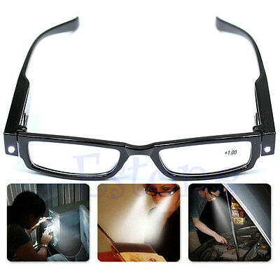 Multi Strength Reading Glasses Eyeglass Spectacle Diopter Magnifier LED Light UP