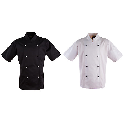 New Unisex Chefs Chef Cook Kitchen Short Sleeve Jacket Men's Kitchenwear Buy Now