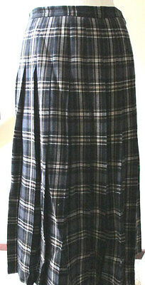 Vintage Jaeger  stunning classic wool and cashmere MAXI  kilt, sz UK 12 /14