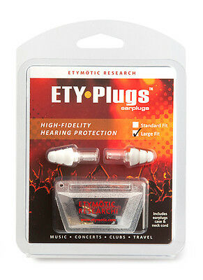 Etymotic ETY-Plugs ER20 Musician Earplugs Large Concert Club Hearing Protection