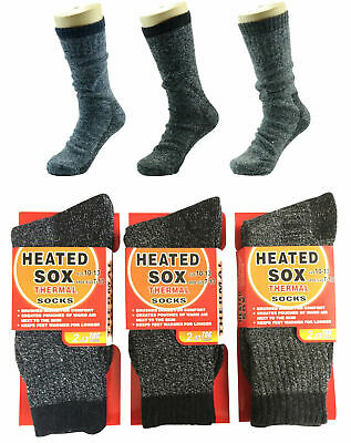 6Prs MEN MENS Thick Winter Warm Thermal HEATED Heat Cushion WORK SOCKS Bulk