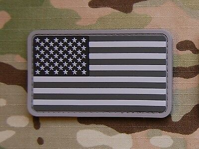 USA US Stars & Stripes Flag Patch MilSpec SWAT ACU PVC Patch VELCRO® Brand