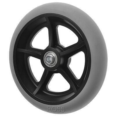"200mm (8"") Non-Marking Grey Rubber Wheelchair Wheel"