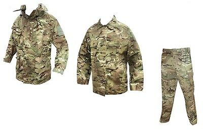 British Army - MTP CAMOUFLAGE Windproof Jacket + Shirt + Trousers - Grade 1