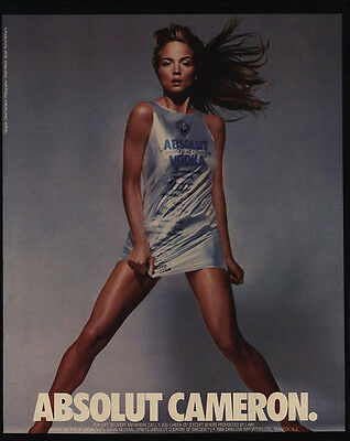 1988 ABSOLUT CAMERON - David Cameron Dress - Rachel Williams - VINTAGE AD