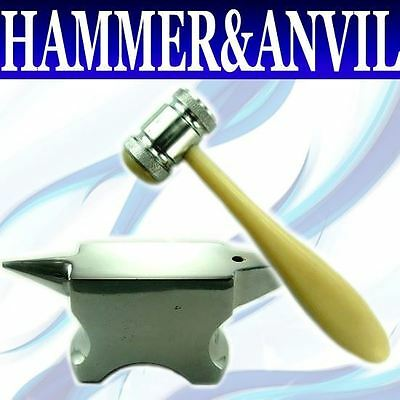 "6"" Chasing Hammer Jewelry Beadsmith Tool Mini Anvil SET"