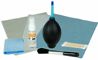NEW Lens & Camera Cleaning Kit with Blower, Microfiber Cloth, Swab, etc.