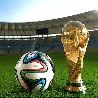 2014 Brazil World Cup Soccer Trophy Replica Football Brand New Statue Model GIFT