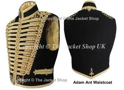 Adam Ant Waistcoat - Gilt Braid Professional Military - All Sizes!