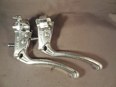 Old School Style Bike Brake Levers, a pair in Silver Lee Chi for BMX or Tourist