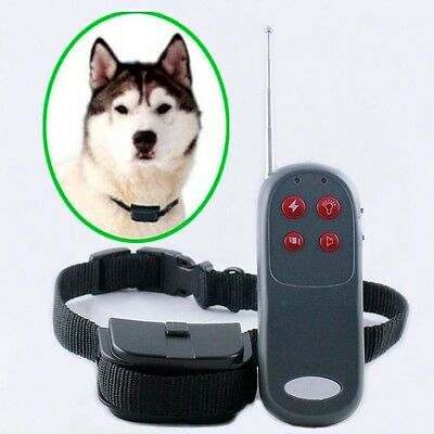 4 in 1 Vibrate Electric Shock Remote Control Pet Dog Training Collar Stop Bark