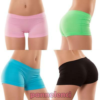 Pantaloncini donna culotte shorts intimo fitness sport hot pant nuovi YQ3308