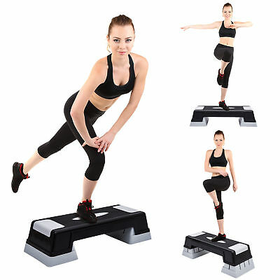 "Soozier Adjustable Aerobic Step Trainer Workout Stepper Exercise 4.7"" 6.7"" 8.7"""
