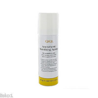 GiGi 0725 Anesthetic Skin Numbing Spray for waxing process 1.5 oz.