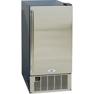 50 lb Built-In Undercounter / Portable Clear Ice Maker Machine w/ SS Silver Door