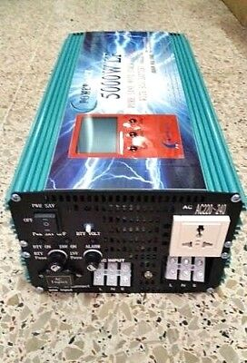 5000w Pure Sine Wave Power Inverter DC 12V to AC 220V inversor onda pura 10000W
