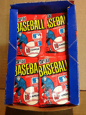 1981 Donruss Wax Pack- lot of 2- Beauties..