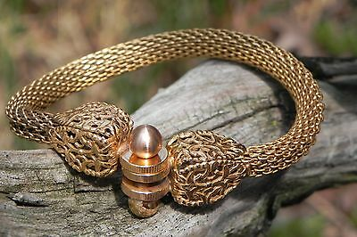 Gold Plated Copper Greek Roman Style Bracelet Made in Italy