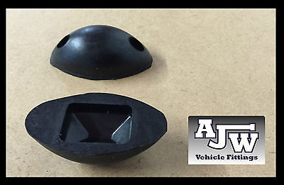 2 X Rubber Mouse Buffer Oval Black Truck Trailer Horsebox Tipper Tail Board