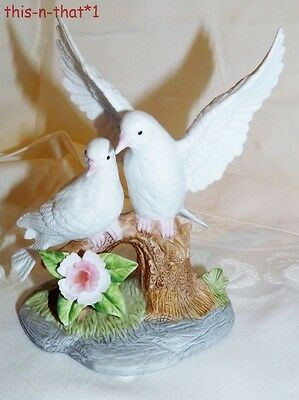 Vintage Porcelain Dove Figurine  Very Detailed